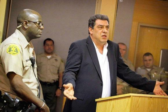 "Art Yepremyan, the father of Gombert ""Mike"" Yepremyan, addresses his son's killers Friday at a sentencing hearing in Van Nuys."