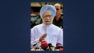 Indian Prime Minister Manmohan Singh speaks to the media on the last day of the Indian Parliament's monthlong session in New Delhi, India,  Sept. 7. The latest session of India's often-raucous Parliament has been adjourned after weeks of shouting matches between the country's beleaguered government and the opposition. The session ended Friday with only four out of 30 slated bills passed.