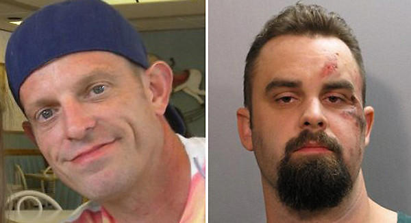 William Pettry, 42, left, was killed at a Jacksonville, Fla., restaurant early Sunday, Oct 7. Matthew Hinson, 27, right. has been charged with his murder.