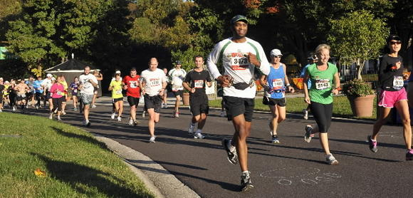 Runners compete in last year's Baltimore Running Festival.