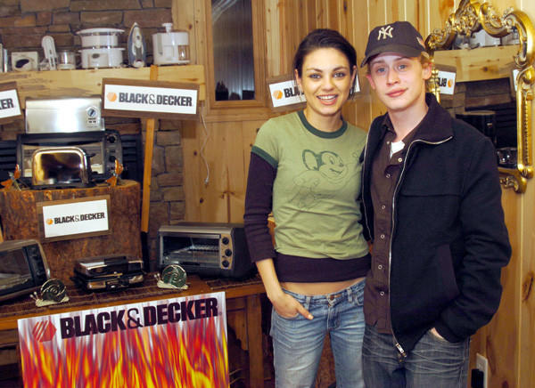 Mila Kunis and Macaulay Culkin in 2004.