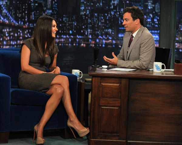 Mila Kunis visits 'Late Night With Jimmy Fallon' at Rockefeller Center on July 18, 2011 in New York City.