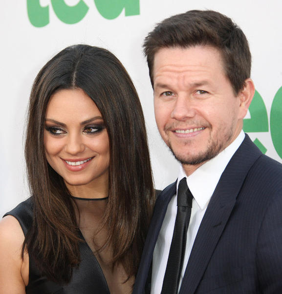 Mila Kunis and actor Mark Wahlberg attend the premiere of Universal Pictures' 'Ted' at Grauman's Chinese Theatre on June 21, 2012 in Hollywood, Ca.