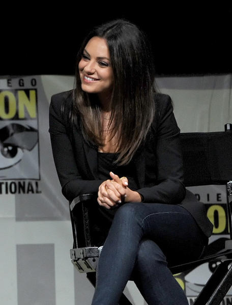 Mila Kunis speaks at the 'Oz: The Great and Powerful' panel during Comic-Con International 2012 at San Diego Convention Center on July 12, 2012 in San Diego, Ca.