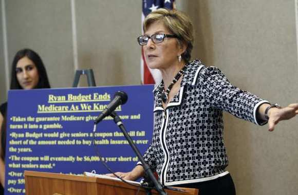 Sen. Barbara Boxer speaks at the Adult Recreation Center in Glendale, Oct. 8, 2012.