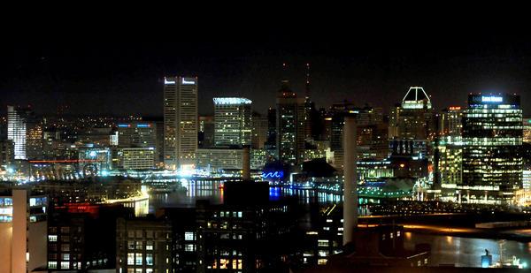 Baltimore skyline.