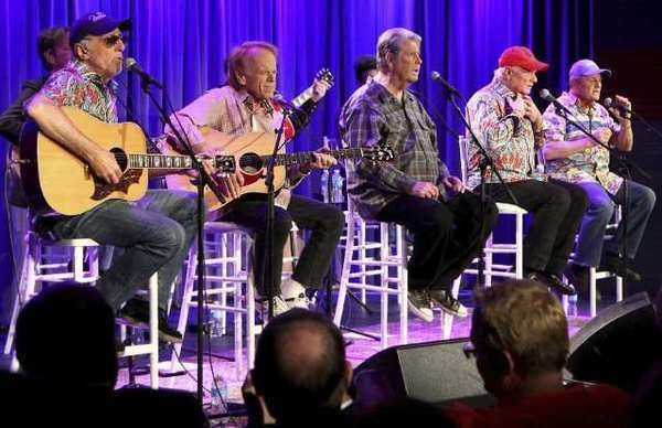 The Beach Boys at the Grammy Museum in Los Angeles.