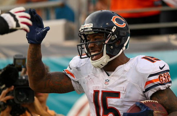 Brandon Marshall's 144 yards receiving, which included a TD, was just the beginning of the Bears' dominance against the lowly Jaguars. RECORD: 4-1