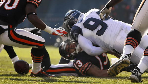 The last time these teams met, Bears receiver Johnny Knox (No. 13) suffered a cringeworthy injury that's still tough to look at.