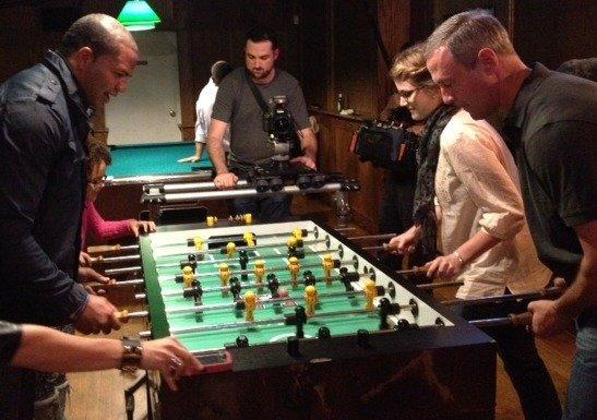 O'Malley v Ayanbadejo at foosball
