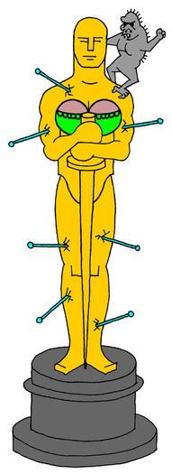 Rick Trembles' Oscar statue