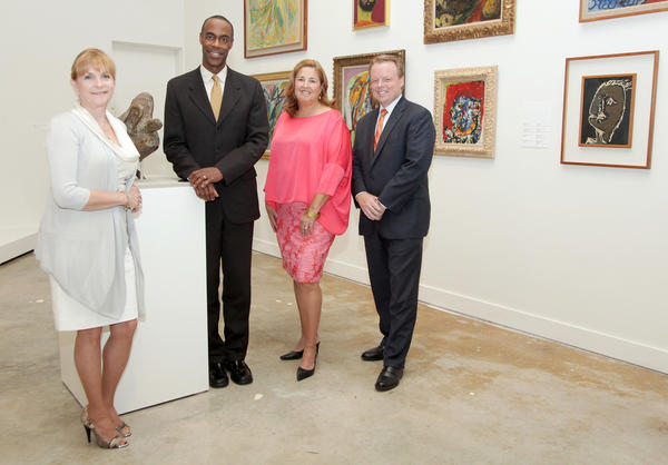 "Hilary Fine, left, Robert Runcie, Deborah Kerr and Kelley Shanley promote the 2012 ""Broward County Arts Teacher of the Year"" event, which will take place on Oct. 24 at the Broward Center for the Performing Arts."