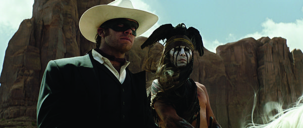 Get a jump on the costume of 2013 with a version of Armie Hammer's Lone Ranger and Johnny Depp's Tonto from the movie scheduled for release next summer. The bird on your head will be the toughest part to figure out.