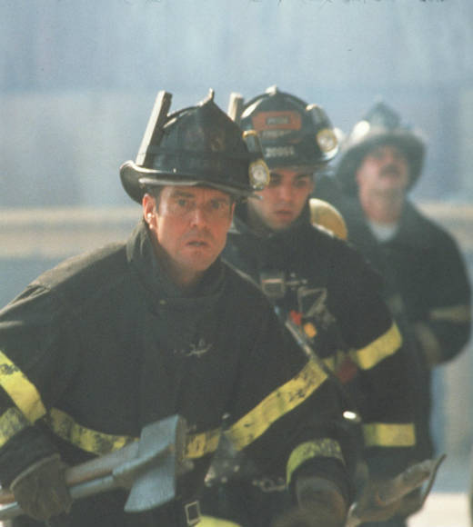 From 'The Towering Inferno' to 'Chicago Fire': Entertainment's hunky firemen: Dennis Quaid plays a firefighter whos able to communicate across time with his son through a ham radio, catch a killer and change the future -- all while looking good.