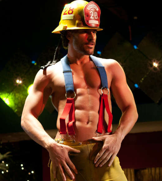 From 'The Towering Inferno' to 'Chicago Fire': Entertainment's hunky firemen: OK, hes not a real firefighter... but he does know how to handle an enormous hose.