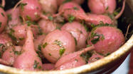 Roasted radishes with brown thyme butter