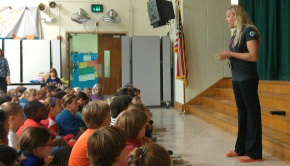 Pinewood Elementary School ~ Jessica long inspires youngsters at pinewood elementary