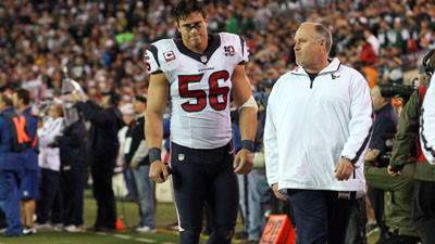 Brian Cushing out for season with torn ACL