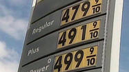 SAN DIEGO -- A six-day streak of increases that pushed the average price of a gallon of self-serve regular gasoline in San Diego County to a record high ended Tuesday with a decrease of three-tenths of a cent to $4.722.