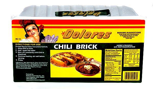 Some restaurants, such as Philippe the Original, doctor up Dolores Chili Brick to make it their own.