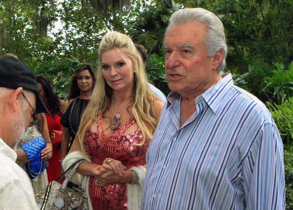"Jacqueline and David Siegel arrive at the Enzian for a private viewing of ""The Queen of Versailles"" a documentary about their family life in Maitland, Florida, on Friday, August 17, 2012."