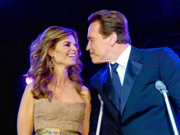 Maria Shriver and Arnold Schwarzenegger smile during the 2007 Governor's Inaugural Ball in Sacramento, Calif. Even though rumors of infidelity circulated for years, Schwarzenegger kept his extramarital activities under wraps until 2011.