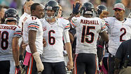 The Bears coaching staff declined to give a specific timetable for <b>Alshon Jeffery's</b> recovery from a fractured right hand. No matter how many games the rookie receiver misses, it will be hard to replace his contribution to the offense.