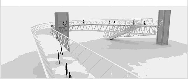 A rendering of the bridge at Lankershim Boulevard. What do you think?