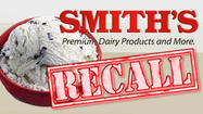 The makers of Smith's ice cream products have issued a recall of several products due to the possibility of salmonella contamination.