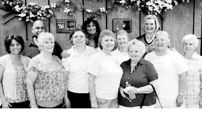 Rainbow Shoppe board members (back, from left) include Calvin Revitzer, Debby Chapaw, Robin Maurer (store manager); (front) Jackie Gilmore, Karen Campbell, Gail Seidel, Carol Ward, Ceil Doan, Shirley Vance, Barb Jensen and Dorothy Miller. Board members missing from photo are Ron Moore and Dianne Coolman.