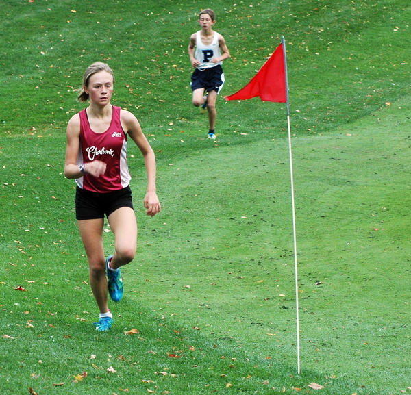 Charlevoix sophomore Amber Way won the girls race Tuesday at Belvedere Golf Club as she finished in 17 minutes flat. Petoskey swept the three-team meet.