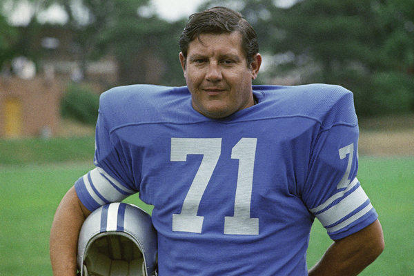 Alex Karras during his days with the Detroit Lions.