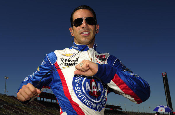 Helio Castroneves can go back to showing off his moves on the racetrack now.