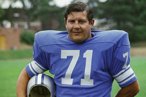 "<b>Alex Karras</b><br> <br> <b>This Sporting Life:</b> The defensive tackle for the Detroit Lions earned All-Pro honors four times. Karras dabbled in pro wrestling during a one-year exile from the NFL, taking on ""Dick the Bruiser"" -- former Packers lineman Dick Afflis -- at Olympia Stadium in Detroit. Read Karras' obituary <a href=""http://www.latimes.com/news/obituaries/la-me-alex-karras-20121011,0,2800870.story"" target-""blank"">here</a>.<br> <br> <b>Reel Life:</b> Karras was known to millions for his role as ""Mongo,"" the monosyllabic, horse-punching brute in the 1974 Mel Brooks comedy ""Blazing Saddles."" He later starred in the ABC sitcom ""Webster,"" which ran from 1983 to 1987. He also worked as an announcer on ABC's ""Monday Night Football.""<br>"