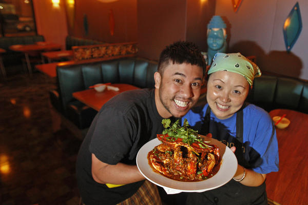 Nguyen Tran and his wife, chef Thi Tran