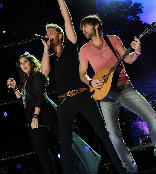 "Dierks Bentley, ""Home""<BR> Luke Bryan, ""tailgates & tanlines""<BR> Eric Church, ""Chief""<BR> Lady Antebellum, ""Own the Night"" (pictured)<BR> Blake Shelton, ""Red River Blue"""
