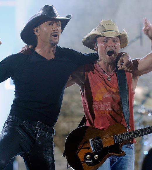 2012 American Country Awards nominees: Jason Aldean Kenny Chesney and Tim McGraw (pictured) Eric Church Toby Keith Lady Antebellum Miranda Lambert Brad Paisley Rascal Flatts Taylor Swift Zac Brown Band