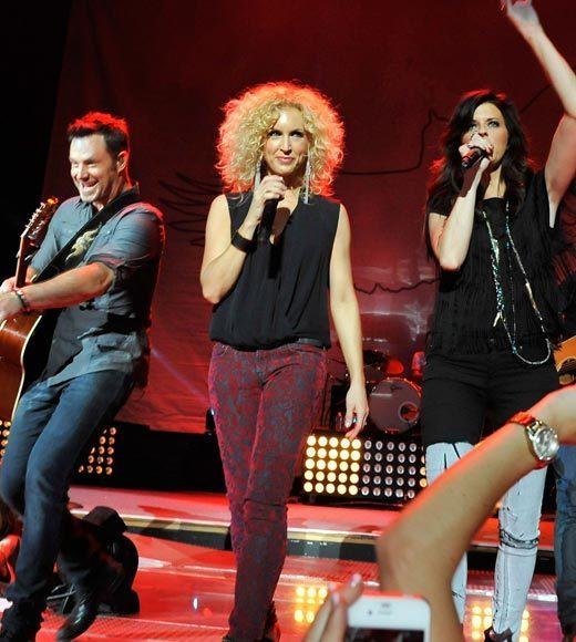 2012 American Country Awards nominees: Gloriana, (Kissed You) Good Night Lady Antebellum, Dancin Away With My Heart Little Big Town, Pontoon (pictured) Love and Theft, Angel Eyes The Band Perry, All Your Life
