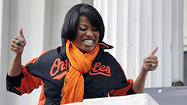 Hundreds of Baltimore Orioles fans rallied in front of City Hall on Wednesday, hoping their joyful noise would reach the team preparing to take on the Yankees in New York City in the third game of the American League Division Series.