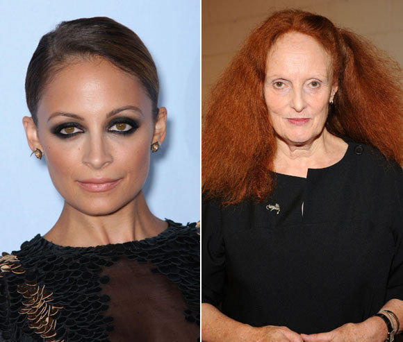 Designer Nicole Richie, left, at the 2012 NCLA ALMA awards, and Grace Coddington at the Balenciaga Fashion's Night Out party. Both will speak at this year's Teen Vogue Fashion University.
