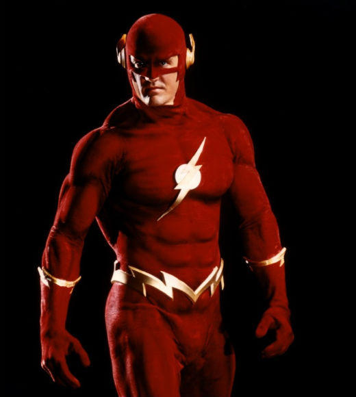 <b>The powers</b>: Super-speed <br><BR> <b>The actor</b>: John Wesley Shipp<br><BR> <b>The run</b>: 1990-1991<br><BR> <b>The villains</b>: Corrupt officials and mobsters, Trickster, Captain Cold, Mirror Master <br><BR> <b>The tone</b>: At first dark, gritty and relatively realistic, then with added comic-book villains.<br><BR> <b> Of note</b>: Danny Elfman composed the theme song, and Mark Hamill played The Trickster. None of that could make up for the Flash looking like a 'roided out bodybuilder rather than a lithe runner with a super-speedy metabolism.