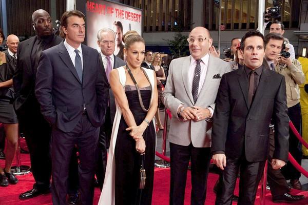 "If Big (Chris Noth, left, with Tim Gunn in back) and Carrie ( <a class=""taxInlineTagLink"" id=""PECLB004218"" title=""Sarah Jessica Parker"" href=""/topic/entertainment/television/sarah-jessica-parker-PECLB004218.topic"">Sarah Jessica Parker</a>) didn't go over the top enough in their wedding, that was no problem for the second film's <a class=""taxInlineTagLink"" id=""PECLB003230"" title=""Liza Minnelli"" href=""/topic/entertainment/liza-minnelli-PECLB003230.topic"">Liza Minnelli</a>-studded ceremony for Stanford (Willie Garson, second from right) and Anthony (Mario Cantone, far right).<br> <br> Tutera: ""Oh, come on! Really? It was so ridiculous. It really was. It was ridiculous. I mean, come on. There's a point where you go over-the-top and it becomes too much -- there is your example."""