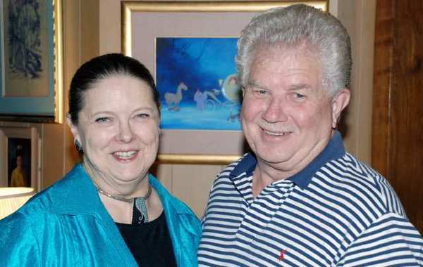 "Joan Patricia ""J.P."" O'Connor, and her husband, Cotton Thompson, hosted a pre-release premiere of ""The Real Fairy Godmother"" feature that appears on Disneys new Diamond Edition release of ""Cinderella."""