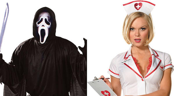 "Nurses and ghosts are tied at the No. 8 spot. But these days, traditional costumes often come with a twist. So don't  expect a simple white sheet with holes cut out for eyes or a standard nurse's uniform. ""There's been a renaissance in classic characters coming back in fun and goofy ways,"" Party City spokeswoman Julia Darrenkamp said.<b"