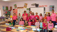 Students and teachers at Rockwood elementary wore pink Wednesday in honor of fourth-grade teacher Christy Hay's treatment for breast cancer.