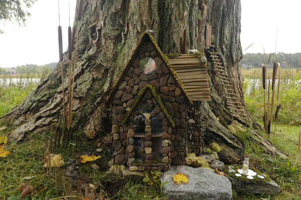 "Marsh Light Manor at Lookout Hollow by Lori and Edward Lenz is part of the ""Wee Faerie Village"" at the Florence Griswold Museum in Old Lyme."