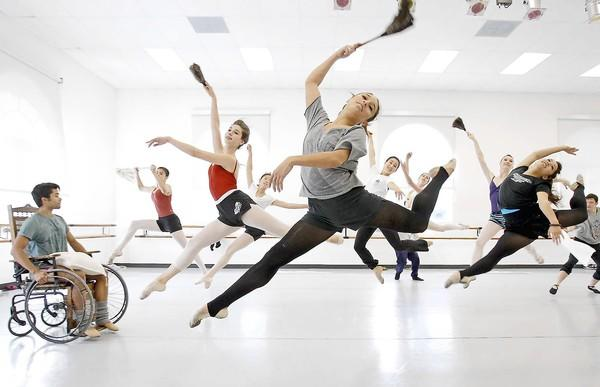 "Members of the Festival Ballet Theatre rehearse for an upcoming show, ""The Secret Garden,"" on Saturday."