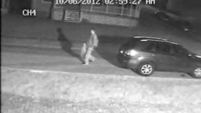 Man caught on camera in rash of vehicle break ins