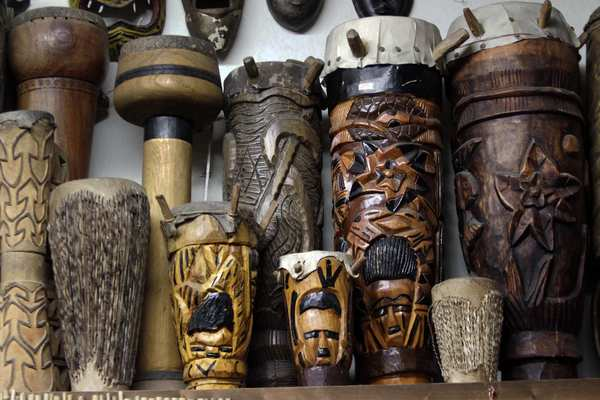 "Haitian and African drums are among the pieces on display not for sale at the Folk Music Center, which also operates as a nonprofit educational organization. The center is working with the nearby <a href=""http://www.malooffoundation.org"">Sam and Alfreda Maloof Foundation for Arts and Crafts</a> to develop an exhibition about the artistry in handmade instruments.  Folk Music Center, 220 Yale Ave., <a href=""http://folkmusiccenter.com/"">folkmusiccenter.com</a>."