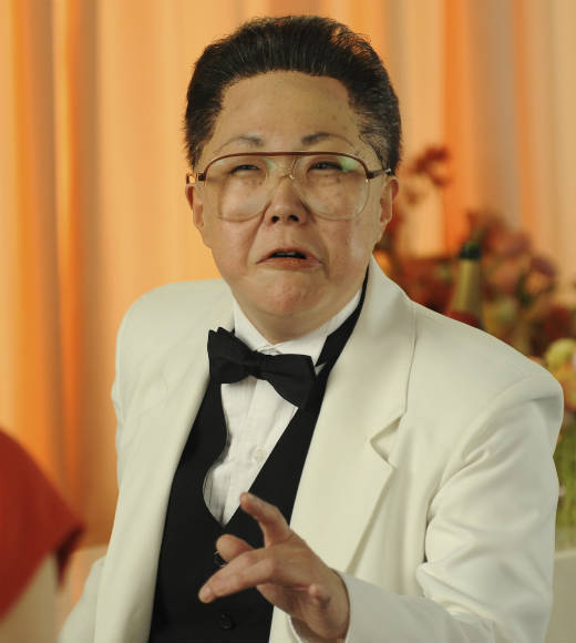Cho played North Korean leader Kim Jong-il.